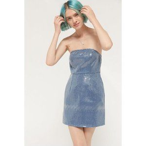 Urban Outfitters | NWT Sequin Denim Mini Dress